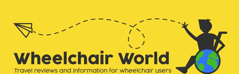 image shows Wheelchair World logo: Wheelchair World, travel reviews and information for wheelchair users